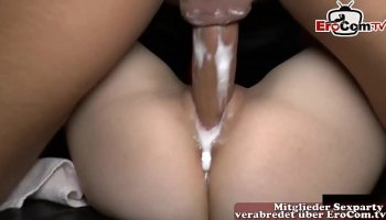 throated college teen takes every drop of cum u got in mouth
