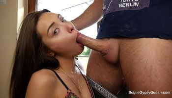 Young lesbian secretary first day at work