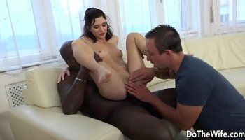 elegant euro babe gets her pussy fucked by a hung stud hard