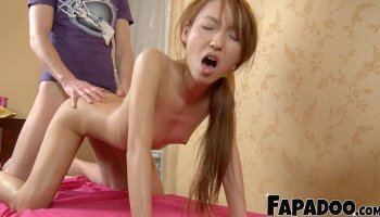 It was the first time anal sex. She liked it