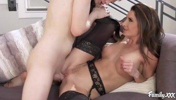 Porn with hot teen Gina Valentina and big horn boobs Lela Star