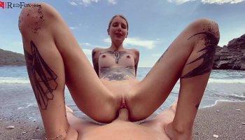SWALLOWED Lana Rhoades and Mia ball sucking with deepthroat